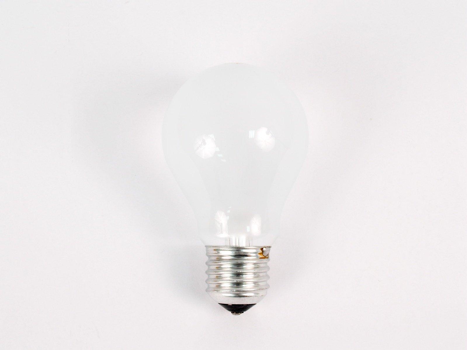 žiarovka, biele