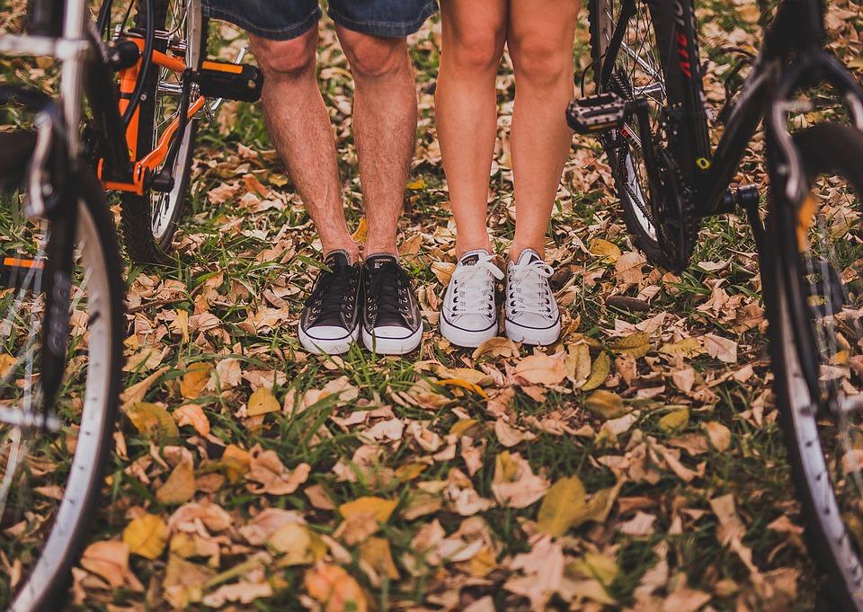 nohy, bicykel